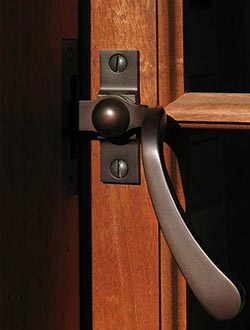 Brass Pushout Casement Window Handle by Phelps