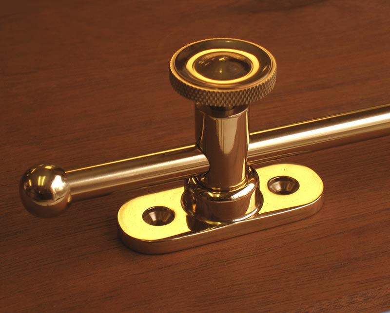 Solid Brass Push Out Casement Stay