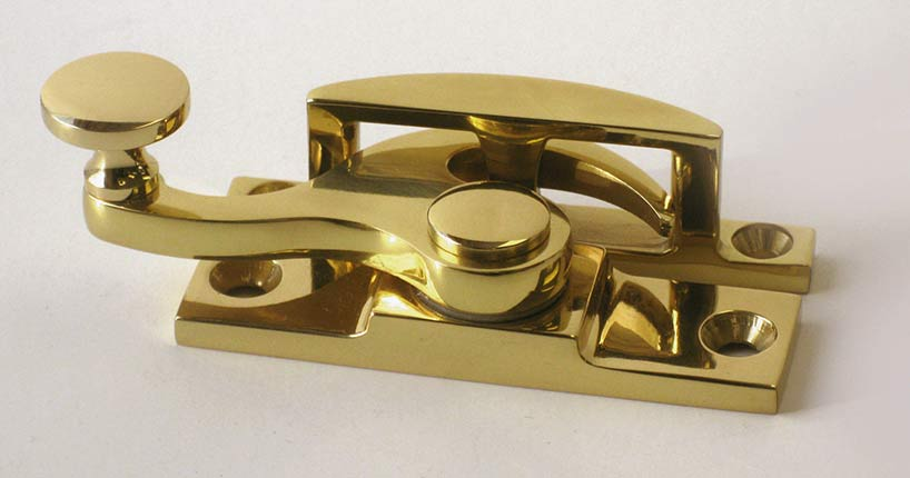 Sash Lock in Solid Brass